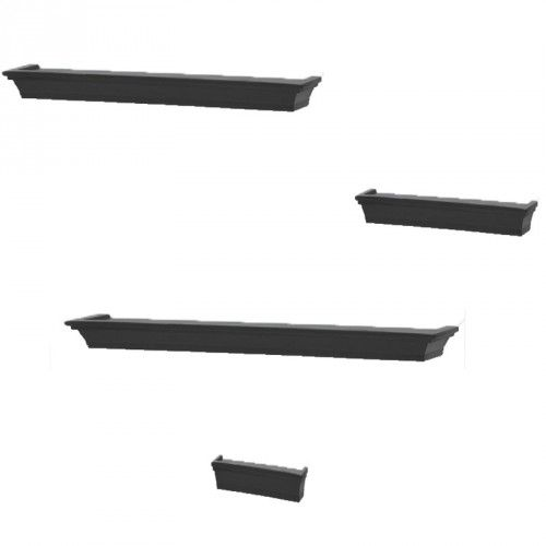 Add A Lovely Touch To Any Wall With This Set Of Four Classic Wood Ledge Shelves You Can Display Accent Shelf Ledges By Themselves In Groups Two