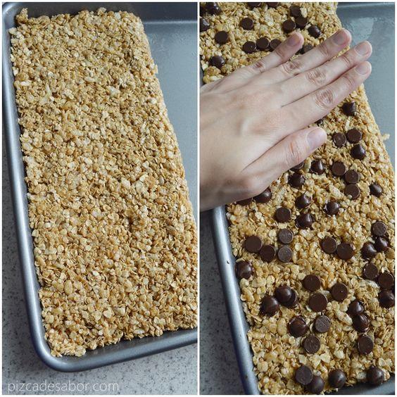 Barritas de granola caseras (sin hornear, sin gluten y fáciles) - Pizca de Sabor