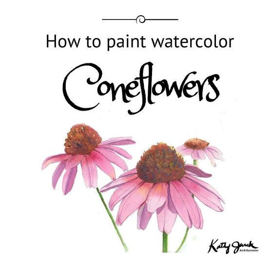 How to watercolor tutorial how to paint flowers for Watercolor painting for beginners step by step