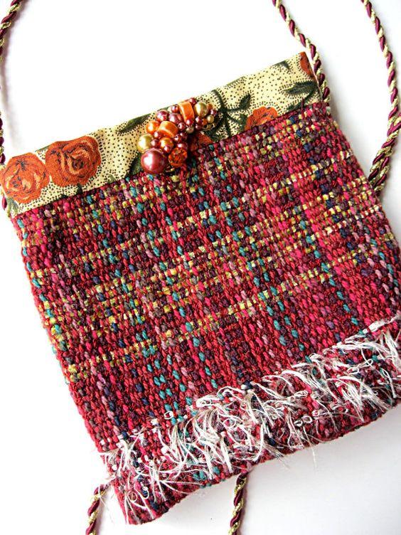 Gypsy purse festival purse cell phone purse red by LilyWhitepad