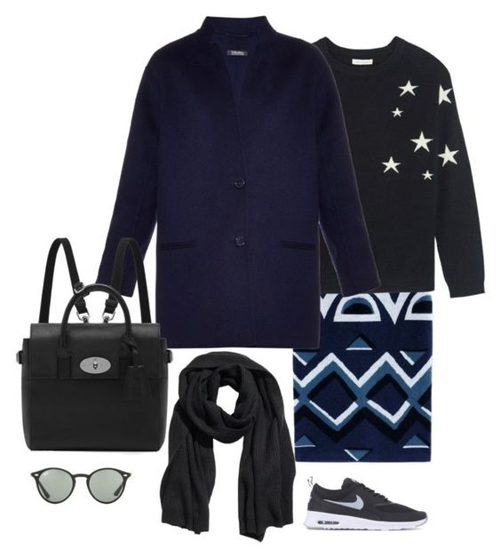 Wednesday's outfit by maellog on Polyvore featuring Chinti and Parker, 'S MaxMara, Burberry, NIKE, Mulberry, H&M and Ray-Ban: