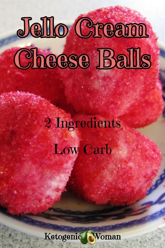 Keto Jello Cream Cheese Fat Bombs