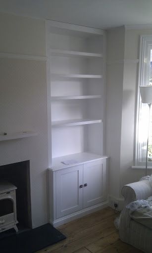 Alcove storage and shelving