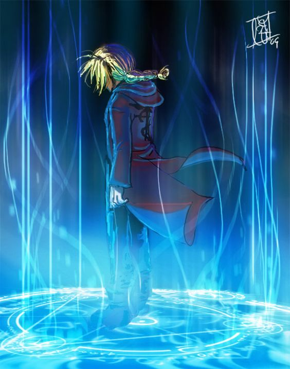 transmutation circle by ~Lepas on deviantART Edward Elric Fullmetal Alchemist (the fact that I about jabbed my finger through the screen to rejoin this as soon as I saw it says a lot about my level of nerd..... >.>)