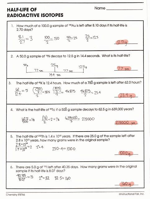 Nuclear Decay Worksheet Answers Luxury Tom Schoderbek Chemistry