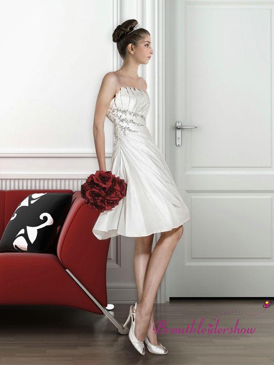 kurz hochzeitskleid standesamt corsage seitlich kristallstein gwrw131 brautkleid. Black Bedroom Furniture Sets. Home Design Ideas