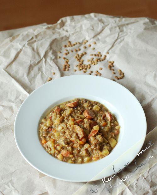 Kochen mit Herzchen - ♥ Mein Koch-Tagebuch mit viel Herz ♥: Linsensuppeneintopf wie Daheim