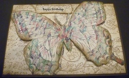 We love the cool details on this Swallowtail card designed and created by Veronica Kettle.