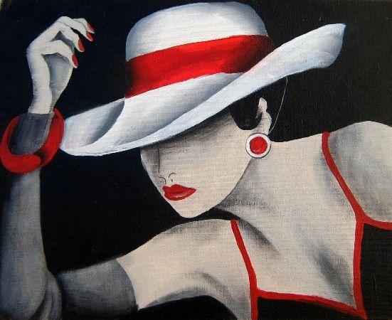 Mujeres serie sombrero - Mongelós.jpg (551×450)