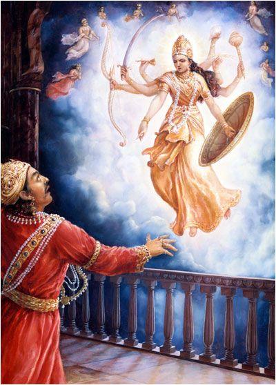 Image result for goddess durga and kamsa