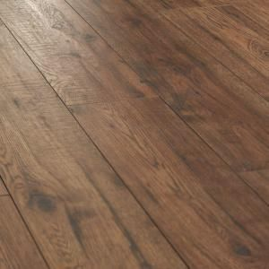 Home Decorators Collection Distressed Brown Hickory 12 Mm Thick X 6 1 4 In Wide X 50 25 32 In Length Laminate Flooring 15 45 Sq Ft Case 34074sq The Ho Flooring House Flooring Wood Laminate