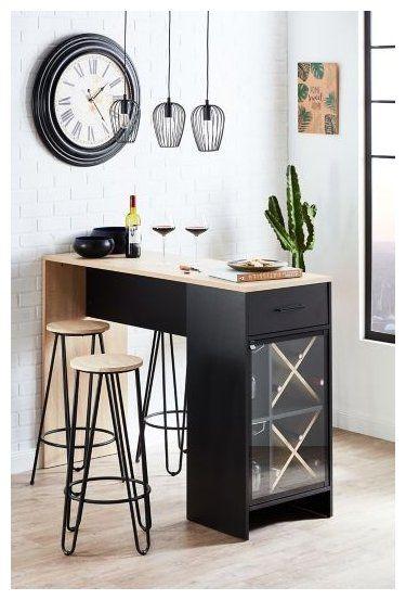 Soldes Meuble Bar Pas Cher Pour Salon Et Cuisine Small Kitchen Bar Table Kitchen Bar Table Kitchen Bar Decor Small Kitchen Bar