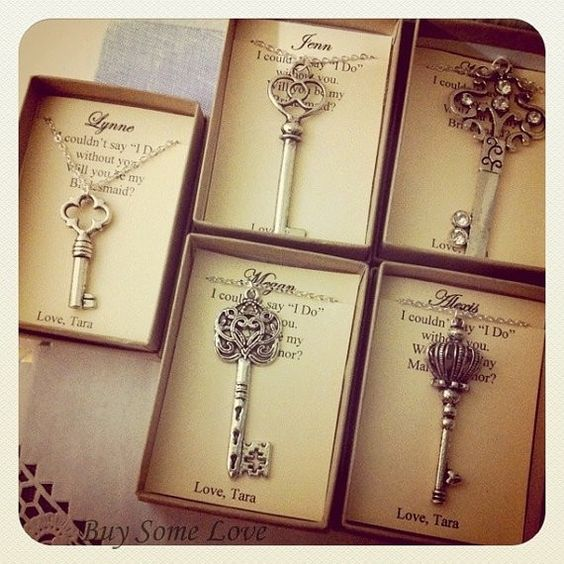 Diy Wedding Thank You Gift Ideas : Key Wedding Favors, - Thank You Gifts, bridesmaids gift ideas, DIY ...