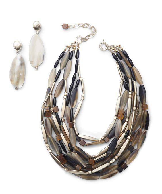 Cheap Wedding Dresses Jackson Ms: Black Label Horn Multi-Strand Necklace