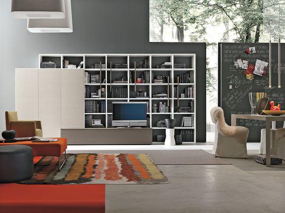 Parete attrezzata per #soggiorno moderno atlante c306 ...
