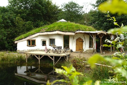 green roof, green design, sustainable design, eco-design, natural building, eco-home, Charlie's Hobbit House, Pembrokeshire County Council t...