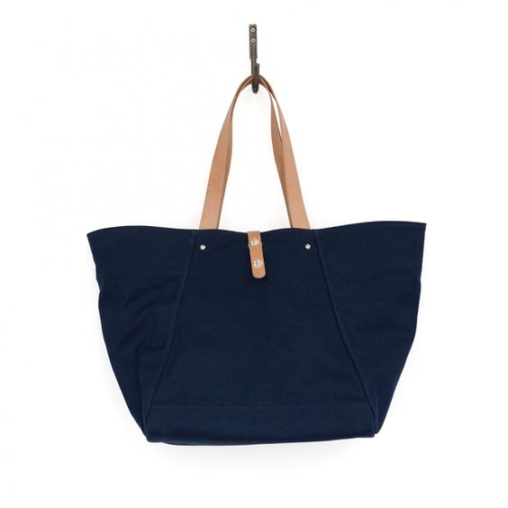 Makr Farm Tote – Navy Canvas and Natural HF – Made in the USA