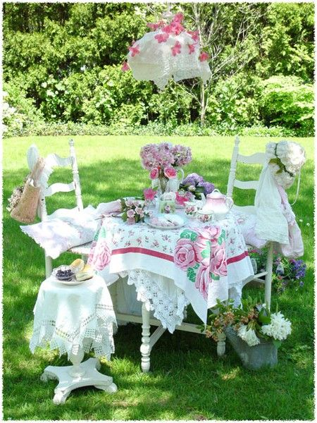Garden tea parties, Tea parties and Teas on Pinterest