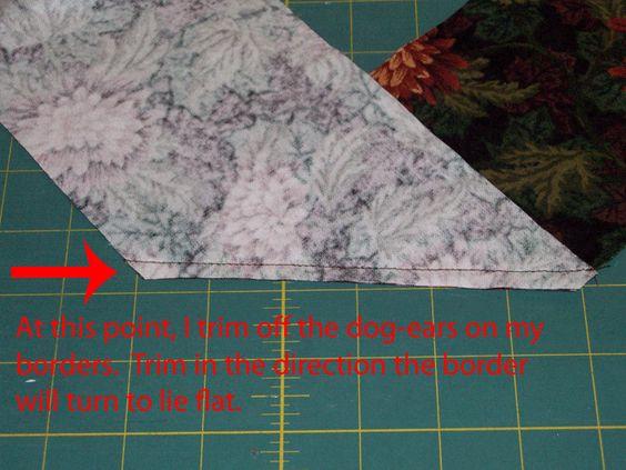 Piecing Diagonal Border Strips Together