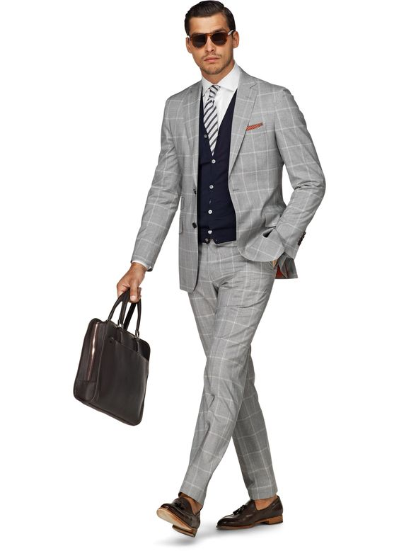 Suit Light Grey Check Sienna P3581 | Suitsupply Online Store