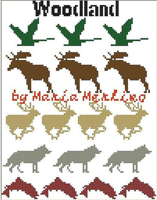 Ravelry: Goose Bird Moose Deer Wolf Fish Woodland Animals Crochet ...