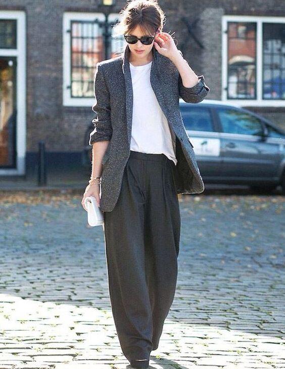 Лучшие образы осени (подборка): самые актуальные сочетания. Свободные брюки с высоким поясом – Woman Delice