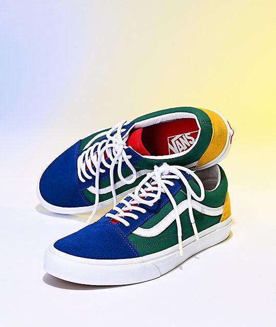 Vans Old Skool Yacht Club Blue, Green, Yellow & Red Skate