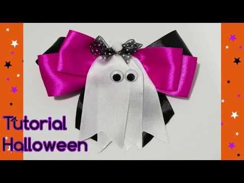 Youtube Decoracao Halloween Lacos De Fita Halloween