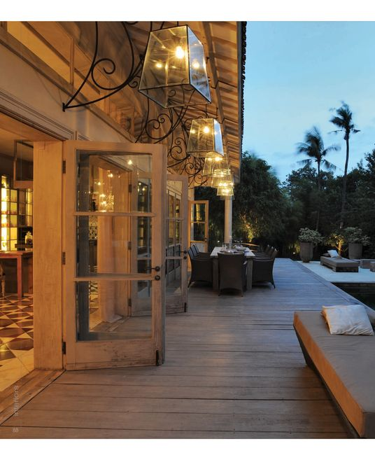 Love the lights, french door, pool, all of it