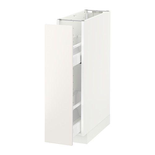 METOD Unterschrank+ausziehb. Einrichtg. IKEA Guter Überblick und Zugriff dank voll ausziehbarer Schublade.