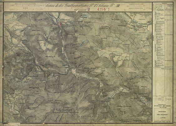 Mayerling um das Jahr 1872 (links oben, Aufnahmeblatt der Landesaufnahme)