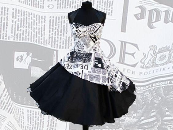 Petticoatkleider Abendkleid 50er Jahre  Zeitung