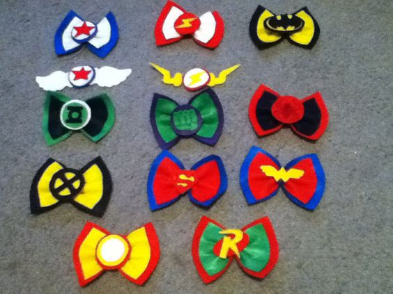 Super Hero hair bows ) Aunt Mikayla will need these to play dress up with