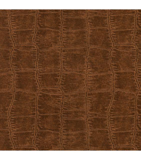 Brown Embossed Crock Wallcovering