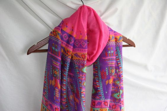 Pink and Purple Aztec Print Color Block   Novelty by elgies, $15.00