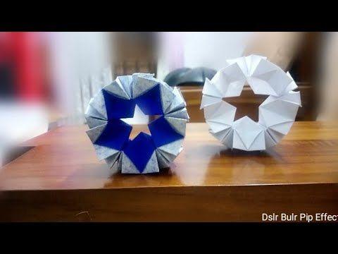 Easy Origami 5 Point Star Tutorial - DIY - Paper Kawaii - YouTube   360x480