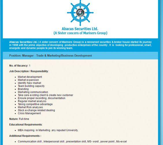 wwwtecjursas  publicidad Pinterest - trade marketing job description
