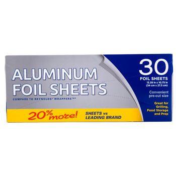 Pop-Up Aluminum Foil Sheets, 30-ct. Pack