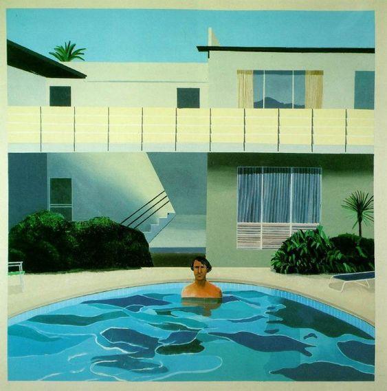 Hockney Swimming Pool Paintings Graphic Pinterest Swimming Swimming Pools And David Hockney