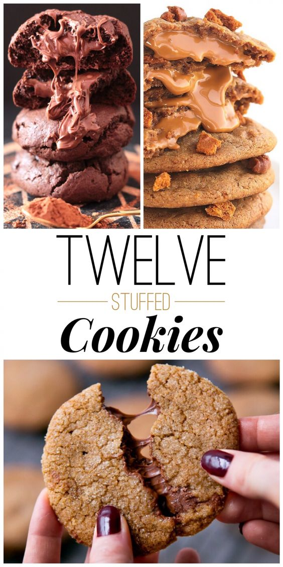 Stuffed cookies are my favorite! Love this roundup from theartofthecookie.com