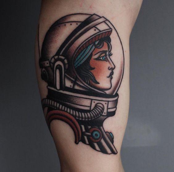 Woman astronaut gorgeous tattoo