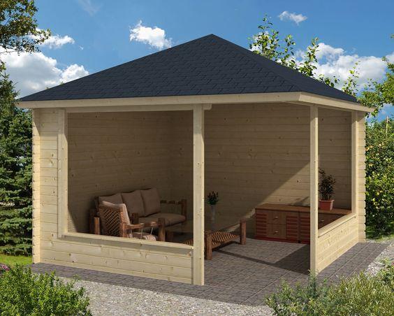Waldemar Wooden Gazebo / Timber Garden Structure - Gazebo Direct