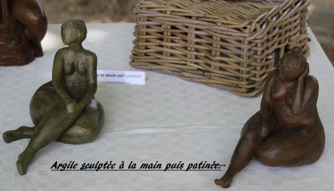 sculptures en argile © AmiB