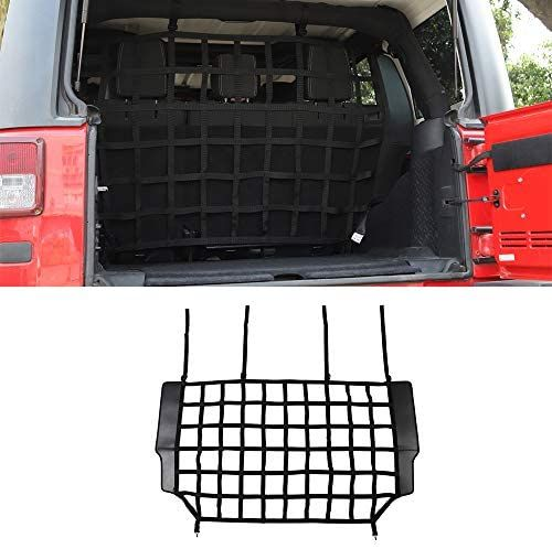 Lztq Rear Trunk Isolation Network For Jeep Wrangler Jk 2007 2017 Car Interior Accessories Barrier Safety In 2020 Jeep Wrangler Jk Wrangler Jk Car Interior Accessories