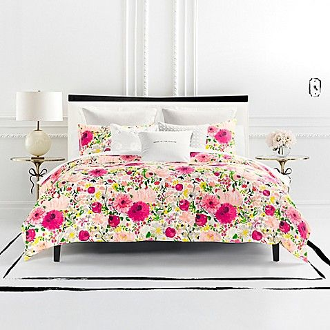 The Kate Spade New York Painted Dahlias Duvet Cover Set Adds A Flourish Of Style And Color To Your Bedroom Toddler Bed Set Luxury Bedding King Comforter Sets