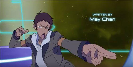 Lance doing laser guns sound effects from Voltron Legendary Defender