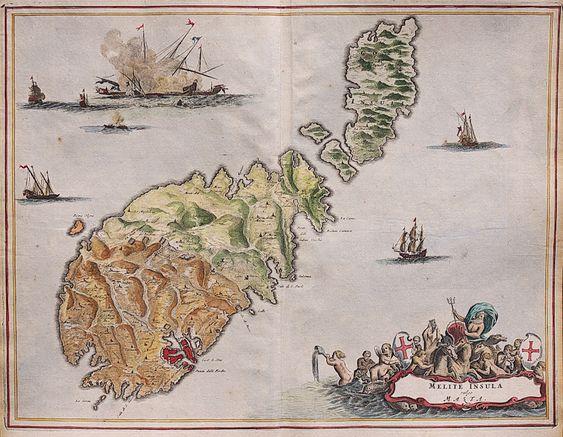 Dapper S Superb Map Of Malta 1668 795 Antique Maps Map Vintage World Maps