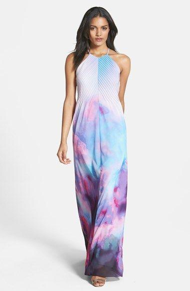 Ted Baker London 'Summer at Dusk' Print Maxi Dress available at #Nordstrom