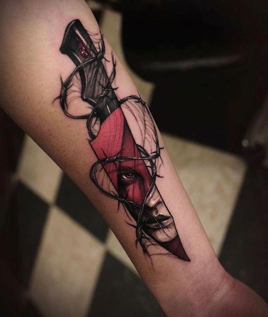 Tattoo Knife Tattoo Girl Tattoo Best Bestgeometrictattoos