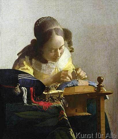 Jan Vermeer van Delft - The Lacemaker, 1669-70